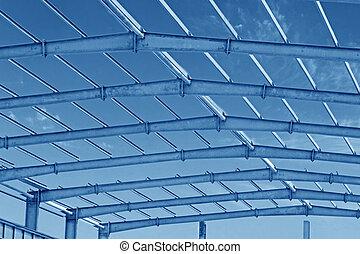 steel structure framework - closeup of steel structure ...