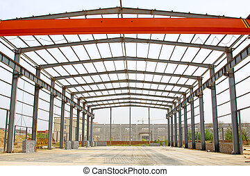 steel structure framework - closeup of steel structure...