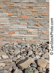 stone wall background with rocks