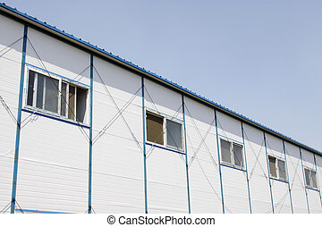 temporary housing project - closeup of temporary housing...
