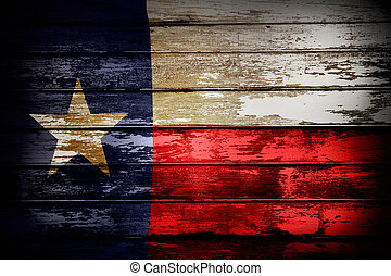 Texas flag - Closeup of Texas flag on boards