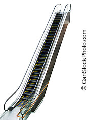 Closeup of the escalator.