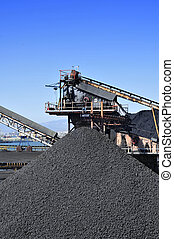 coal industry - closeup of the facilities of a coal industry