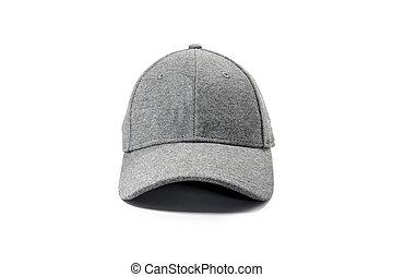fashion gray cap isolated