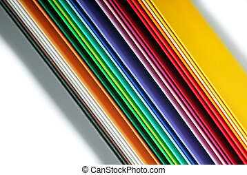 closeup of the multicolor paper