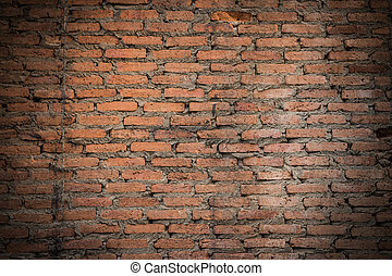 Closeup of the old and weathered brick wall 1