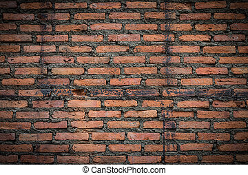 Closeup of the old and weathered brick wall 2