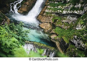 Savica waterfall at Bohinj Valley, Slovenia