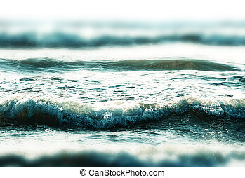 closeup of the sea waves