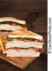 toasted turkey club sandwich