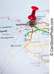 Trapani Italy On A Map