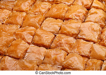 Closeup Of Tray With Baklava