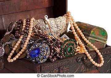 Closeup of treasure chest - Closeup of full treasure chest...