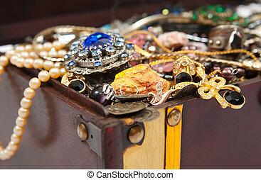 Closeup of Treasure chest