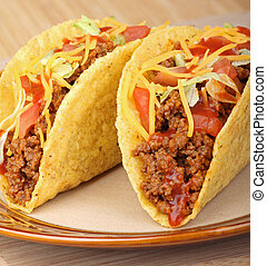 Closeup of Two Tacos