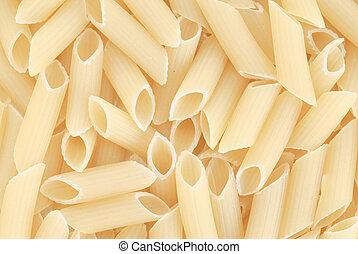 Closeup of uncooked italian pasta
