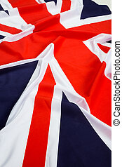 Closeup of Union Jack flag