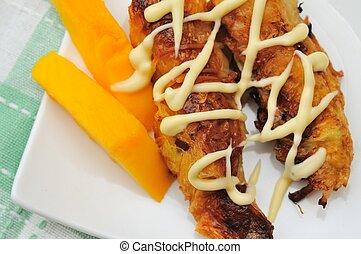 Closeup of vegetarian snack