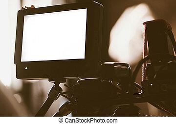Video camera viewfinder - Closeup of Video camera viewfinder...