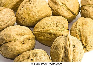closeup of walnuts