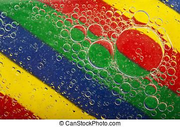 closeup of water bubbles