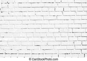 closeup of white brick wall