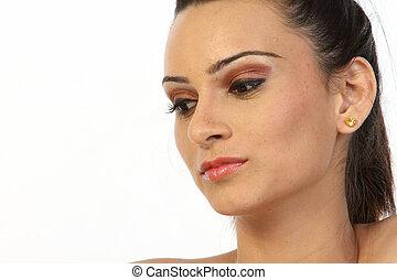 Closeup of woman face