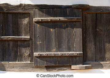 closeup of Wooden door