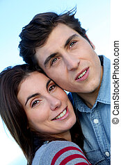 Closeup of young couple