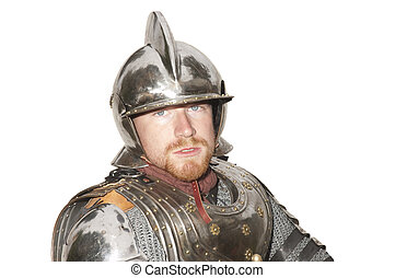 young man in armor during a Historical enactment