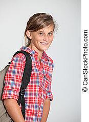 Closeup of young teenager
