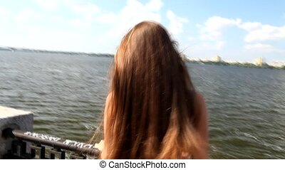 Closeup Of Young Woman Enjoying Cit