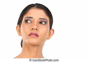 Closeup of young woman face