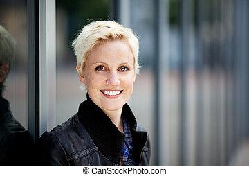 Closeup Of Young Woman Smiling