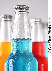 closeup, ofl, verão, bebidas, com, gelo