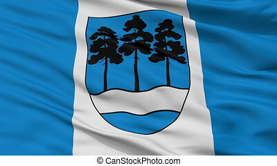 Closeup Ogre city flag, Latvia - Ogre closeup flag, city of...