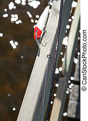 Closeup on fishing lure
