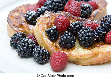 Closeup on French Toast dish