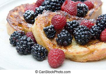 Closeup on French Toast dish