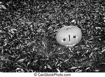 Closeup on Halloween pumpkin Jack O'Lantern