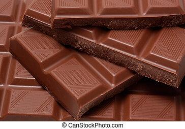 chocolate - closeup on milk chocolate bar