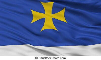 Closeup Oni Municipality flag, Georgia