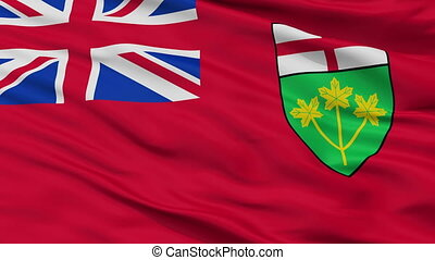 Closeup Ontario city flag, Canada - Ontario closeup flag,...