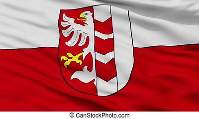 Closeup Opava Flag city flag, Czech Republic - Opava Flag...