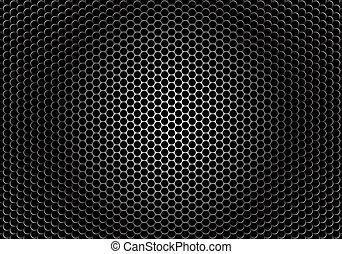 closeup, orador, grille, textura