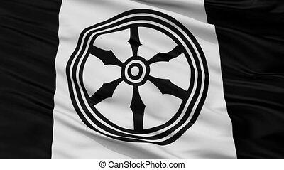 Closeup Osnabruck city flag, Germany - Osnabruck closeup...
