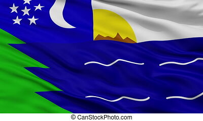 Closeup Paita city flag, Peru - Paita closeup flag, city of...