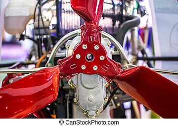 closeup paramotor rotor fan blade aero dynamic design engineering
