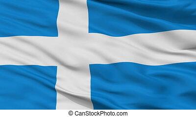 Closeup Parnu city flag, Estonia - Parnu closeup flag, city...