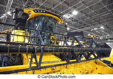 Closeup photo of an agricultural equipment